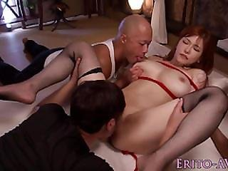 Bigtitted Asian Bound And Fucked Before Cum