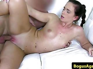Amateur Casting Babe Gets Her Big Ass Jizzed