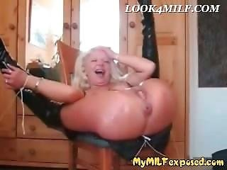 My Milf Exposed Anal Fisting Mature Wife Enjoying Rough