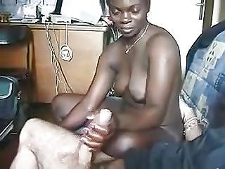African Suck Fucks Big White Cock
