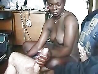 African Suck Fucks Big White Cock