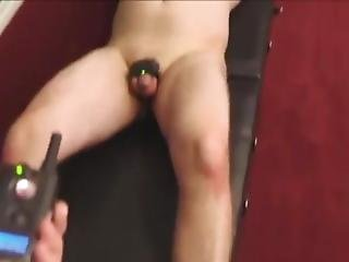 Mistress Tortures Slave With Shocker