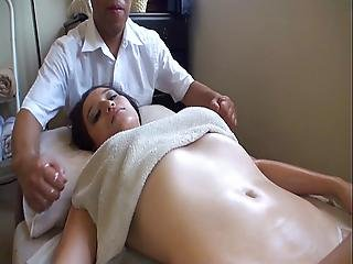 asiat, massage, hvid