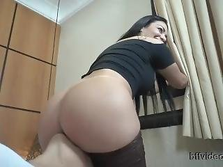 Beautiful South American Woman Laughing At Her Huge Stinky Farts