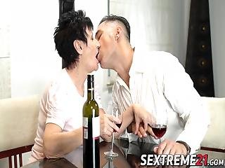 Pixie Grandma Anastasia Has Taken Hold Of Yet Another Big Dick She Sucks And Fucks It Before Warm Jizz Enters Her Mouth!