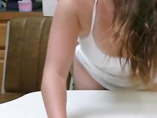 Dirty Candace Gets Fucked On The Kitchen Table!