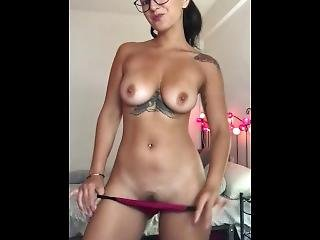 Claudia Bavel Stripping On Webcam