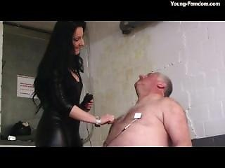 Mature domination chubby tube