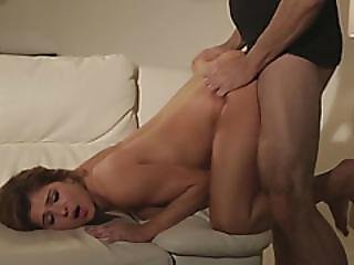 Petite Cutie Leah Gottie Gets Seduced And Fucked On Sofa