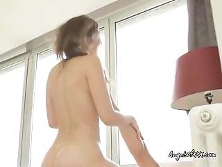 Beautiful Teen With Perfect Ass Rides A Massive Cock!