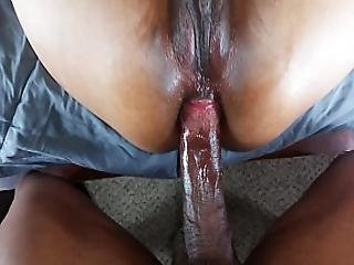 amatør sort anal creampie