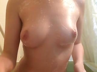Playing With My Small Soapy Boobs
