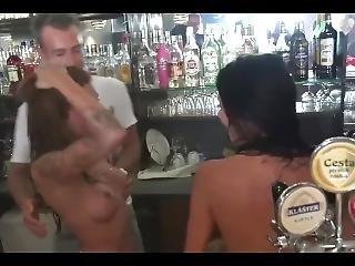 Two Bartenders Gangbanged Hard