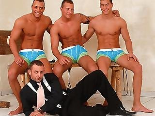 The Sexy Visconti Triplets Pose For Their Photos On The Set
