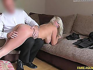 Fakeagentuk Michelle Thorne Blond With Large Love Melons Acquires Fastened Up