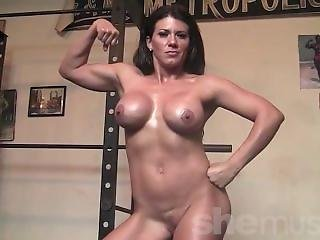 Leena Strips Naked And Works Out