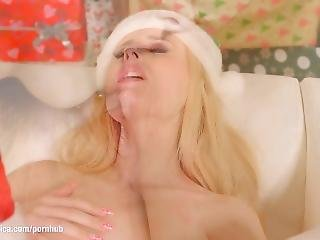 Merry Breastmas - Lesbian Scene With Stella Cox And Angel Wicky By Sapphix