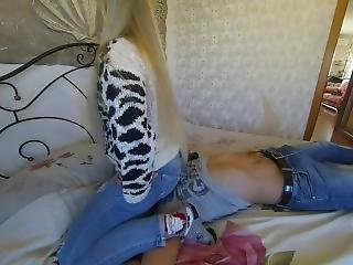 Jeans Sitting And Assworship