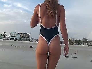 Hot Girl Thong Beach Sideboob