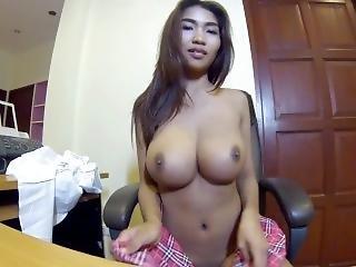 amateur, asiatique, gros téton, seins, pov, solo, Ados, webcam