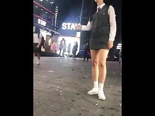 Korean Girl Spitting Smoking