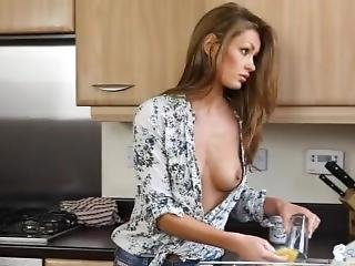 Hailey Downblouse In The Kitchen