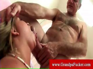 Jaelyn Fox Takes On Two Older Men