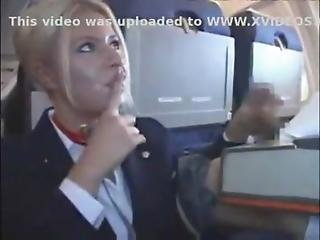 Stewardess Sucks And Jerks Off Passenger