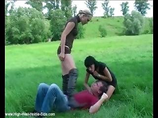 Leather Boots Babes Outdoor Domination