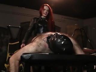 Strap-on Domination - Mistress Rebekka Raynor Fucks Her Man Slave