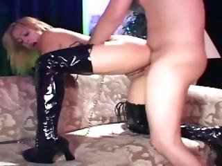 Petite Cutie Fucking In Gloves And Black Boots
