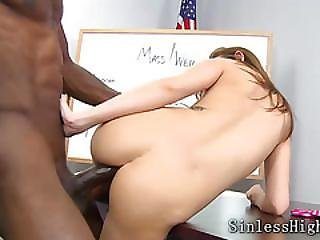 Black, Brunette, Dick, Interracial, School, Teen