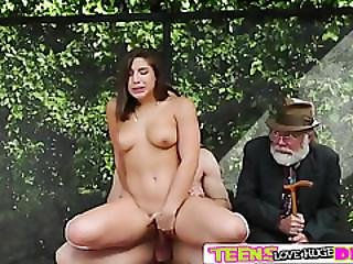 Hardcore Sex Action With Abella In The Bus Station