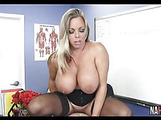 Extra Credit With Big Tits Busty Teacher Amber Lynn Bach