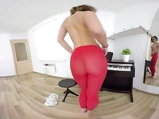 Sexlikereal `carolin Masturbates During Piano Lesson� 180vr 60 Fps Tmw Vr