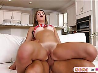 Petite Teen Liza Rowe Welcomes Big Cock In Her Tight Pussy