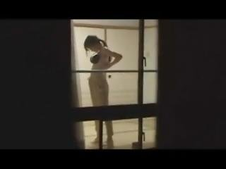 japonesa, modelo, público, voyeur, cãmara web