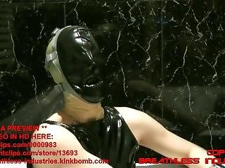 Theonly-j Extreme Breathplay In Latex Mask - Preview