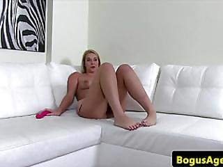 Amateur Teen Toys Her Pussy At A Casting