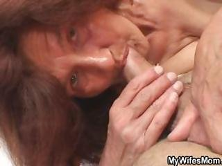 Old Bitch Fucks Her Daughters Man
