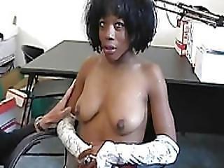 Sexy African Slut Enjoys Hardcore Threesome
