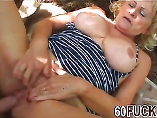 Granny Stally Sucking Big Dick In Woods Fucking