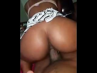 Slim Ebony Teen Riding My Bbc