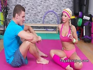 Huge Tits Blonde Wrestling At The Gym