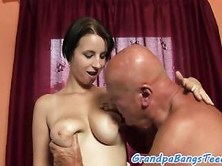 Hugetits Teen Pleasures Grandpas Cock