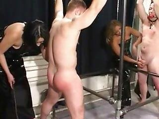 Two Mistresses In Boys Bound And Fucked