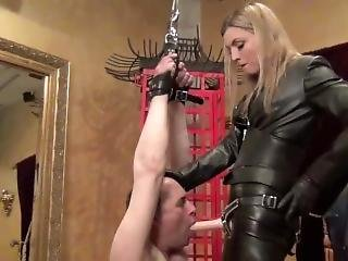 Mistress Renee Trevi And Her Strapon Sucking Slave