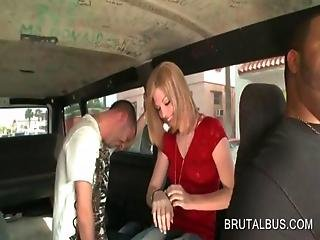 Picked Up Amateur Blonde Talked Into Fucking In The Sex Bus