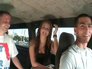 Redhead Getting Talked Into Having Sex In The Brutal Bus