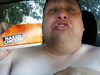 Large Naked Man Sexually Eats A Taco Bell Chalupa